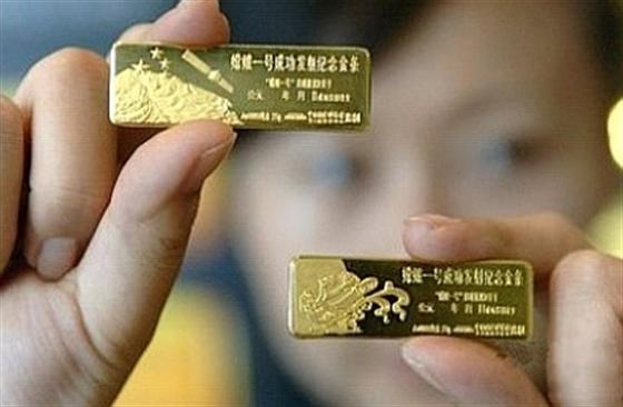 Kínai aranylapkák.