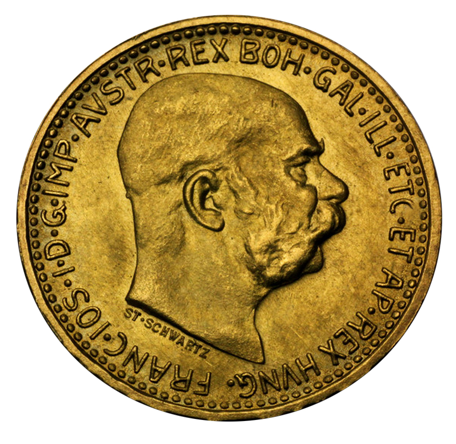 Osztrák aranykorona befektetési aranyérme: 10,20,100 koronás; Conclude Zrt.