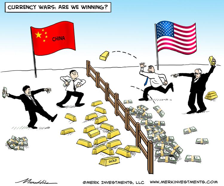 Devizák háborúja. Ki nyer a végén? Forrás: http://www.merkinvestments.com/insights/2013/2013-05-08.php; Conclude Zrt.