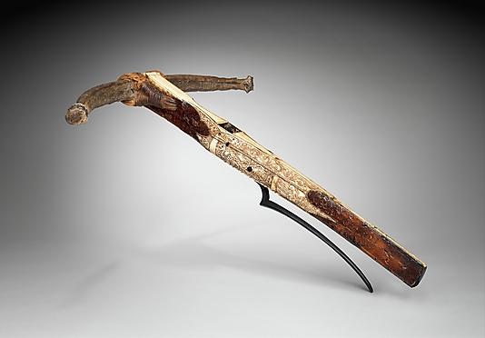 Az 1443-1490 között élt Mátyás király vadászíja egyike a legkorábbi íjpuskáknak és számunkra talán a legérdekesebb  darab.; Forrás: The Metropolitan Museum of Art, Conclude Zrt.