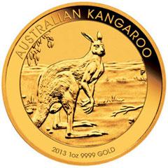 1 unciás Kenguru aranyérme. Forrás: Perth Mint of Australia, Conclude Zrt.