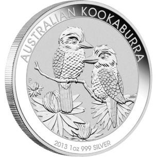 A 2013-ban vert Ausztrál Kookaburra ezüstérme. Forrás: www. directcoins.com.au, Conclude Zrt.