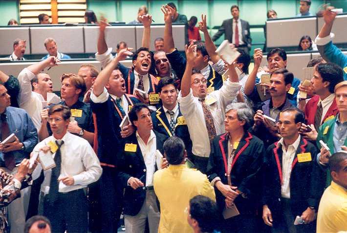 Aranykereskedés a New York-i árutőzsdén. Forrás: www.goldalert.com, Conclude Zrt.