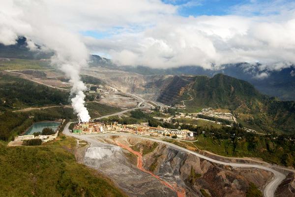 A Barrick Porgera bányája. Forrás: Mining.com, Conclude Zrt.
