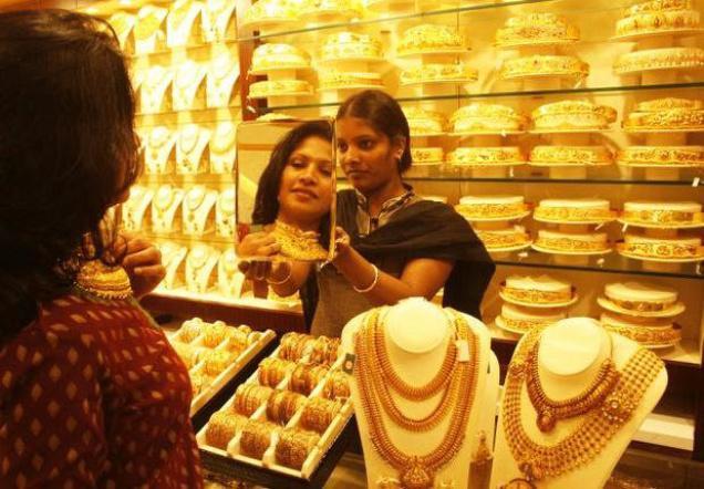 Aranyékszer-üzlet Indiában. Forrás: The Hindu Business Line, Conclude Zrt.