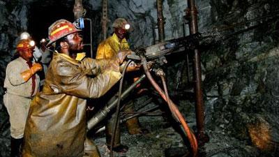 A Harmony Gold dél-afrikai bányájában. Forrás: www.sabc.co.za, Conclude Zrt.
