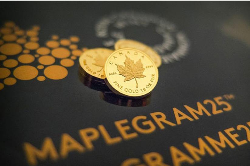Magyarországon elsőként! Itt az 1 grammos mini juharlevél aranyérme