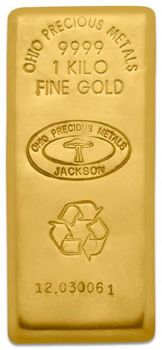 A Comex-en fizikai teljesítésre is elfogadott 1 kilós OPM aranyrúd