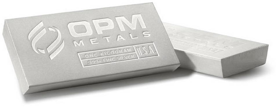 OPM kilós ezüsttömb (új dizájn)