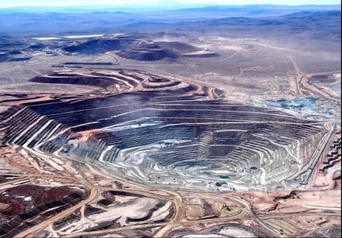A chilei Escondida rézbánya. Forrás: mining.com, Conclude Zrt.