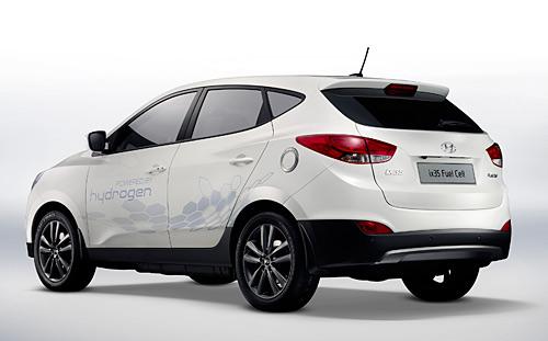 A Hyundai hidrogénmeghajtású autója. Forrás: automania.be, Conclude Zrt.