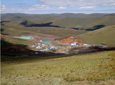 A különleges gyémántokat rejtő Karowe bánya. Forrás: www.stevenstone.co.uk, Conclude Zrt.
