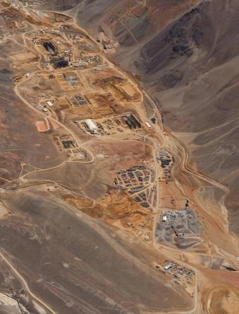 A leállított chilei Pascual Lama-projekt. Forrás: Barrick, Conclude Zrt.